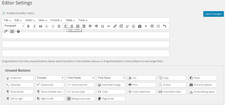 editor setting